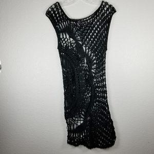 UO Sparkle & Fade crochet swirl tunic size: M/L